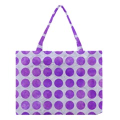 Circles1 White Marble & Purple Watercolor (r) Medium Tote Bag by trendistuff