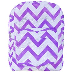 Chevron9 White Marble & Purple Watercolor (r) Full Print Backpack