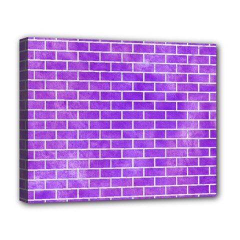 Brick1 White Marble & Purple Watercolor Deluxe Canvas 20  X 16   by trendistuff