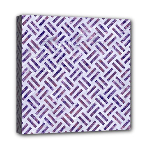 Woven2 White Marble & Purple Marble (r) Multi Function Bag by trendistuff