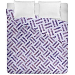 Woven2 White Marble & Purple Marble (r) Duvet Cover Double Side (california King Size) by trendistuff