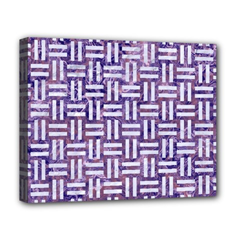 Woven1 White Marble & Purple Marble Deluxe Canvas 20  X 16   by trendistuff