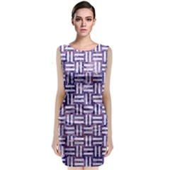 Woven1 White Marble & Purple Marble Classic Sleeveless Midi Dress by trendistuff