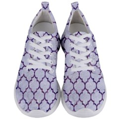 Tile1 White Marble & Purple Marble (r) Men s Lightweight Sports Shoes