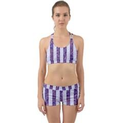 Stripes1 White Marble & Purple Marble Back Web Gym Set