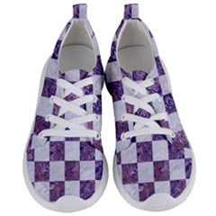 Square1 White Marble & Purple Marble Women s Lightweight Sports Shoes