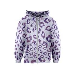 Skin5 White Marble & Purple Marble Kids  Zipper Hoodie