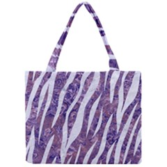 Skin3 White Marble & Purple Marble Mini Tote Bag