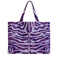 Skin2 White Marble & Purple Marble Zipper Mini Tote Bag by trendistuff