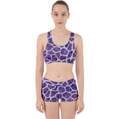 Skin1 White Marble & Purple Marble (r) Work It Out Gym Set