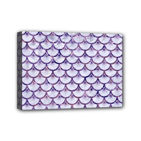 Scales3 White Marble & Purple Marble (r) Mini Canvas 7  X 5  by trendistuff