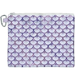 Scales3 White Marble & Purple Marble (r) Canvas Cosmetic Bag (xxxl)