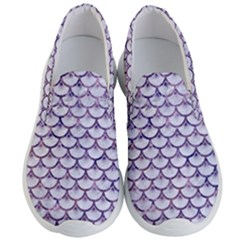 Scales3 White Marble & Purple Marble (r) Men s Lightweight Slip Ons
