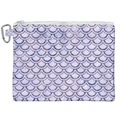 Scales2 White Marble & Purple Marble (r) Canvas Cosmetic Bag (xxl) by trendistuff
