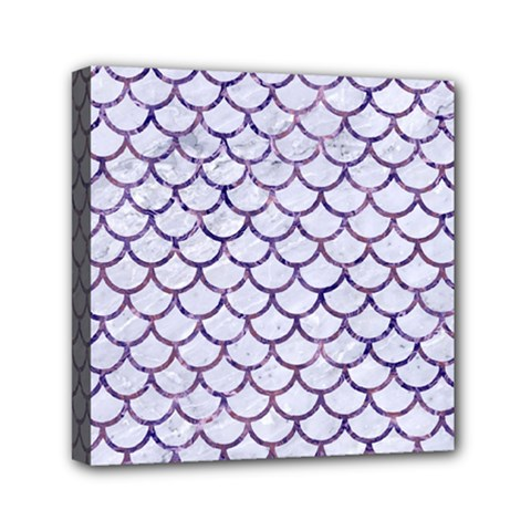 Scales1 White Marble & Purple Marble (r) Canvas Travel Bag by trendistuff