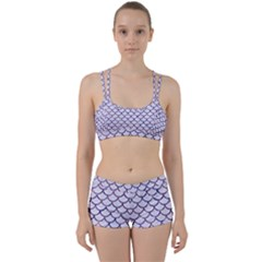 Scales1 White Marble & Purple Marble (r) Women s Sports Set