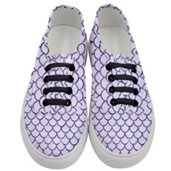 Scales1 White Marble & Purple Marble (r) Women s Classic Low Top Sneakers