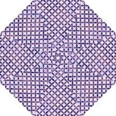 Circles3 White Marble & Purple Marble (r) Folding Umbrellas by trendistuff