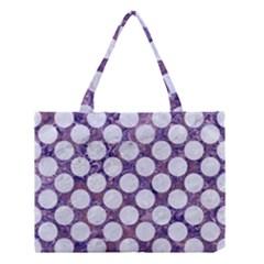 Circles2 White Marble & Purple Marble Medium Tote Bag