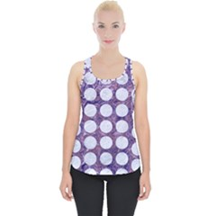 Circles1 White Marble & Purple Marble Piece Up Tank Top