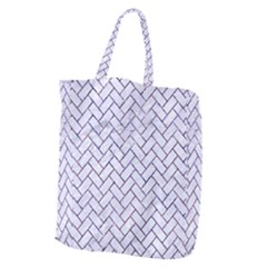 Brick2 White Marble & Purple Marble (r) Giant Grocery Zipper Tote by trendistuff