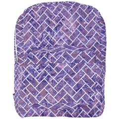 Brick2 White Marble & Purple Marble Full Print Backpack