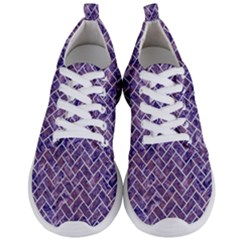Brick2 White Marble & Purple Marble Men s Lightweight Sports Shoes