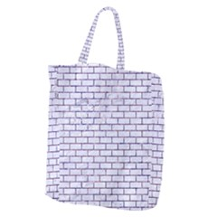Brick1 White Marble & Purple Marble (r) Giant Grocery Zipper Tote