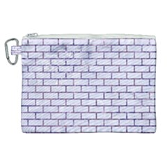 Brick1 White Marble & Purple Marble (r) Canvas Cosmetic Bag (xl) by trendistuff