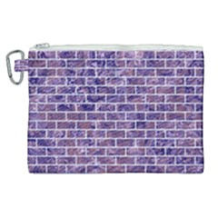 Brick1 White Marble & Purple Marble Canvas Cosmetic Bag (xl) by trendistuff