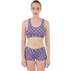 Woven2 White Marble & Purple Leather (r) Work It Out Gym Set