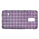 WOVEN1 WHITE MARBLE & PURPLE LEATHER (R) Galaxy S5 Mini View1