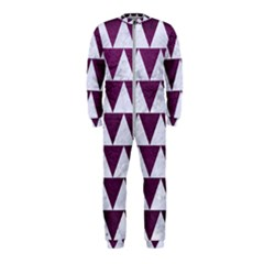 Triangle2 White Marble & Purple Leather Onepiece Jumpsuit (kids) by trendistuff
