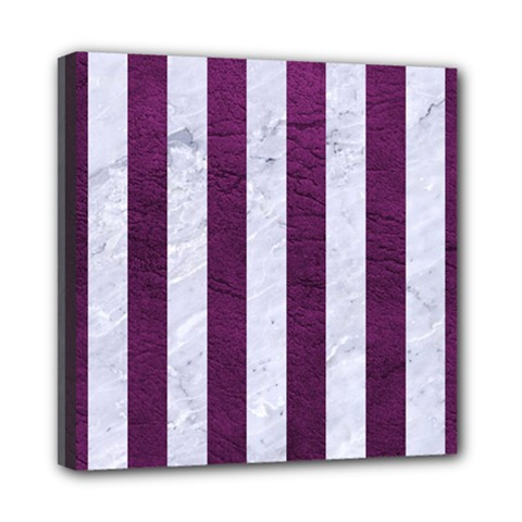 Stripes1 White Marble & Purple Leather Multi Function Bag	 by trendistuff