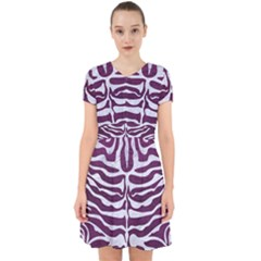 Skin2 White Marble & Purple Leather Adorable In Chiffon Dress