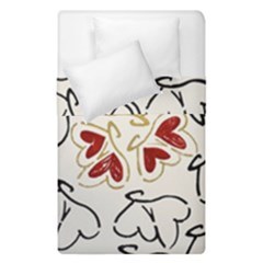 Loving Hearts Duvet Cover Double Side (single Size) by Art2City