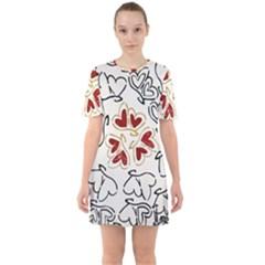 Loving Hearts Sixties Short Sleeve Mini Dress