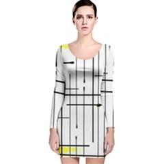 White Limits By Jandi Long Sleeve Velvet Bodycon Dress
