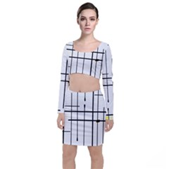 White Limits By Jandi Long Sleeve Crop Top & Bodycon Skirt Set