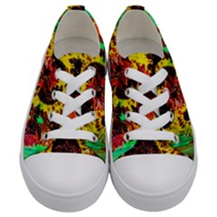 Sunflowers In Elizabeth House Kids  Low Top Canvas Sneakers