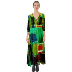 Marakesh 5 Button Up Boho Maxi Dress