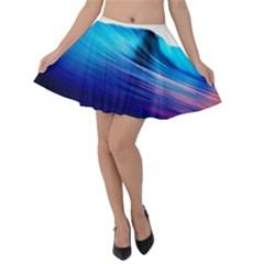 Rolling Waves Velvet Skater Skirt