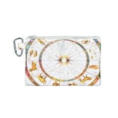 Zodiac  Institute Of Vedic Astrology Canvas Cosmetic Bag (small) by Sapixe