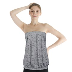 Water Glass Pattern Drops Wet Strapless Top by Sapixe