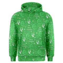 Santa Christmas Collage Green Background Men s Overhead Hoodie
