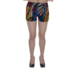 Vivid Colours Skinny Shorts by Sapixe