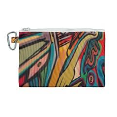 Vivid Colours Canvas Cosmetic Bag (large) by Sapixe