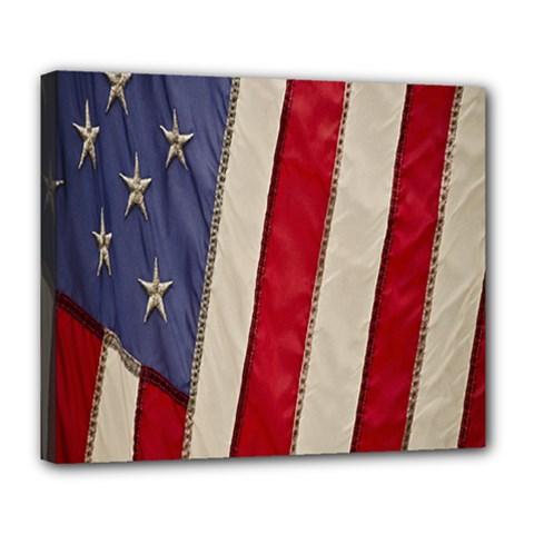 Usa Flag Deluxe Canvas 24  X 20
