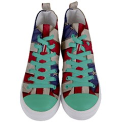Usa Flag Women s Mid Top Canvas Sneakers