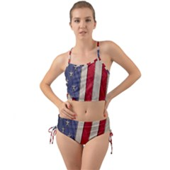 Usa Flag Mini Tank Bikini Set